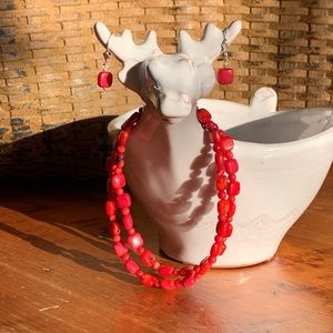 DTR Jay King Red Coral Necklace